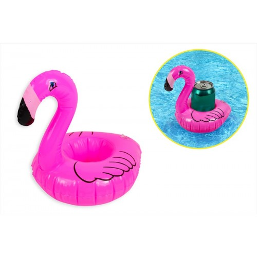 PVC INFLATABLE FLAMINGO DRINK HOLDER