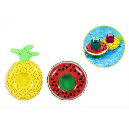 INFLATABLE DRINK HOLDER 2 ASSORTED FRUIT DESIGNS