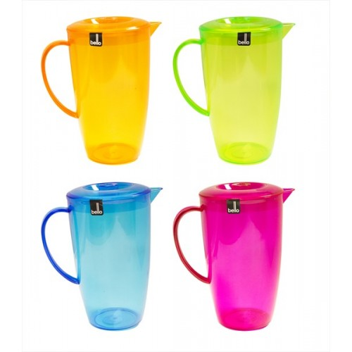 COLOURED DRINKS PITCHER WITH LID