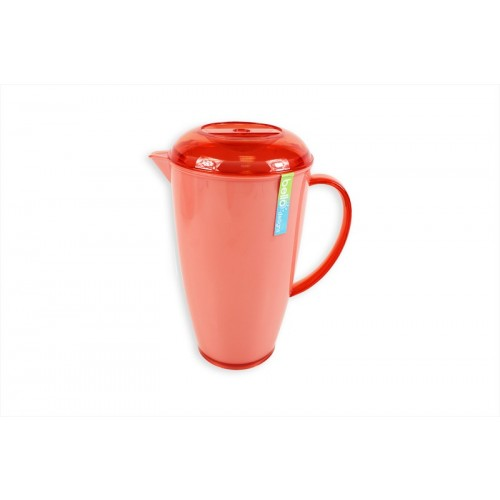 Bello 2 TONE CORAL/WHITE DRINKS PITCHER WITH LID