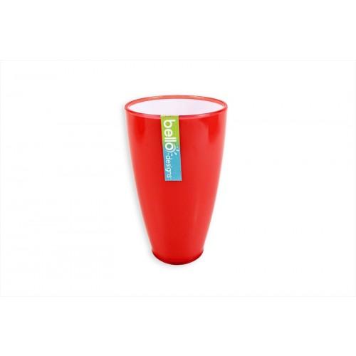Bello 2 TONE CORAL/WHITE TALL DRINKS TUMBLER 9X15.5CM