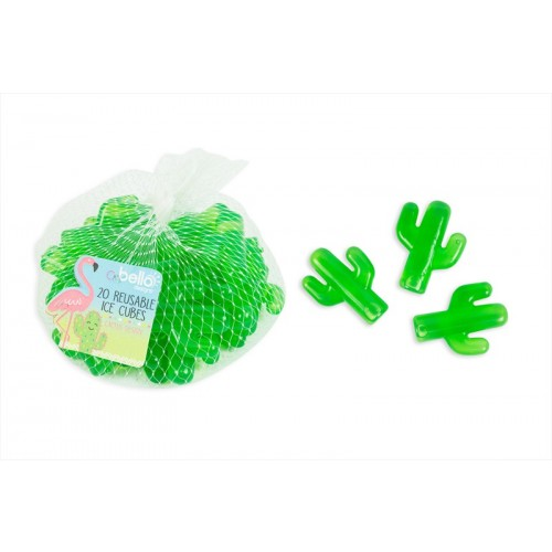 CACTUS SHAPED RESUABLE ICE CUBES PACK OF 20