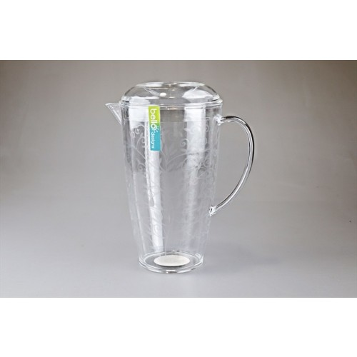 DRINKS PITCHER WITH LID ETCHED DESIGN 2L