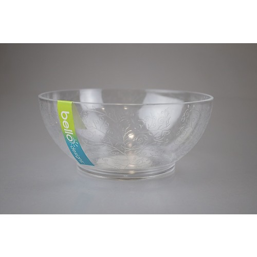 CLEAR SMALL BOWL ETCHED DESIGN 15X6.5CM