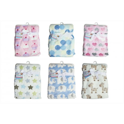 First Steps SUPERSOFT FLEECE BABY BLANKET 6 DESIGNS
