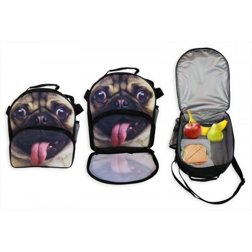 RSW CARRY INSULATED LUNCH BAG 27X22X10CM DOG PRINT