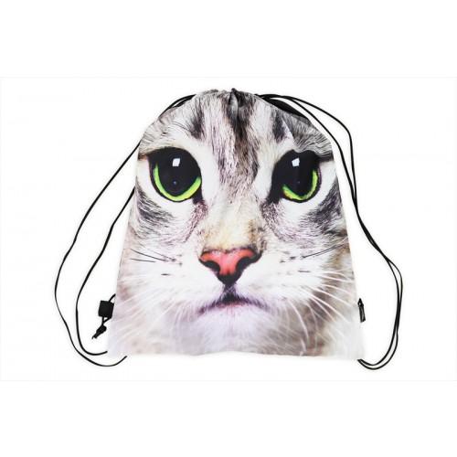 RSW DRAW STRING BAG 40X35CM CAT FACE PRIINT