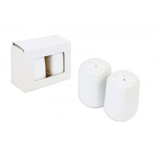 RSW PORCELAIN SALT AND PEPPER SHAKERS SQUARED SHAPE