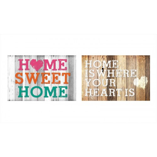 RSW DOOR MAT HOME DESIGN 2 ASSORTED 60X40CM