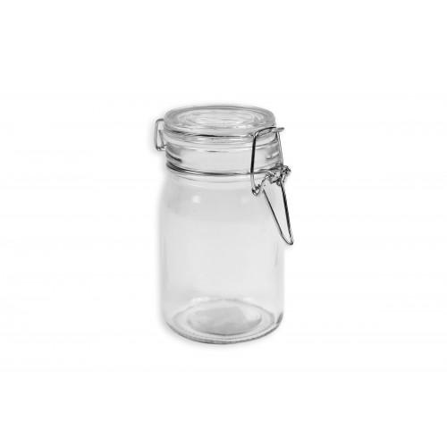 RSW CLEAR GLASS CLIP TOP STORAGE JAR 250ML
