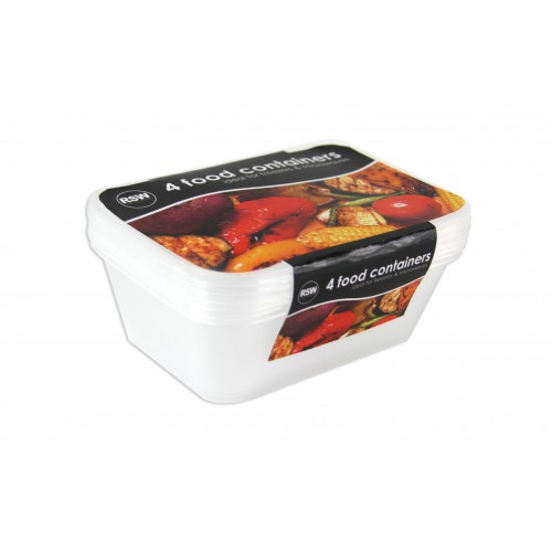 FREEZER TO MICROWAVE CONTAINER 4 PACK