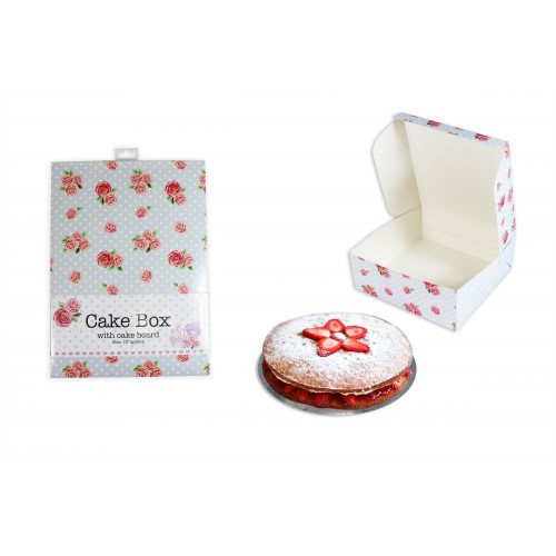 CAKE BOX AND BOARD 10'' AFTERNOON TEA DESIGN