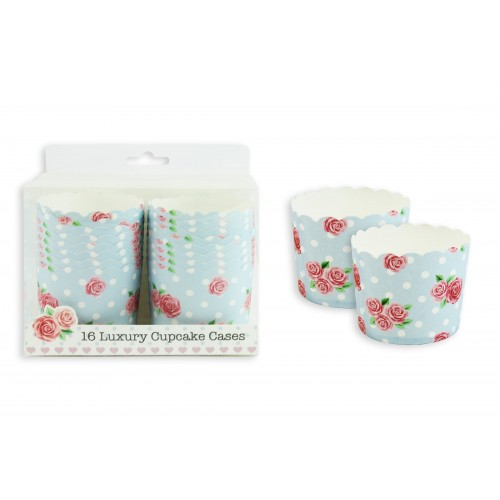 LUXURY CUP CAKE CASES PK16 AFTERNOON TEA STYLE