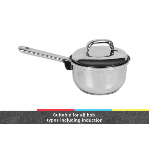 CookHouse INDUCTION SUITABLE SAUCE PAN 16CM W/LID