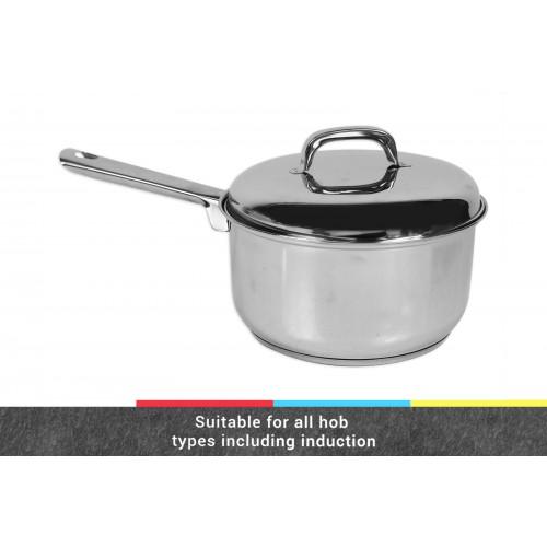 INDUCTION SUITABLE SAUCE PAN 20CM W/LID