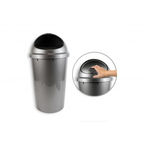 RSW 25L SILVER DOME TOP WASTE BIN