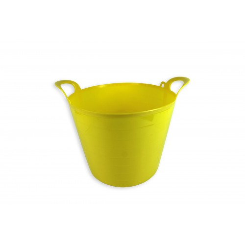 MULTI PURPOSE DURABLE FLEXI TUB 26 LITRE YELLOW