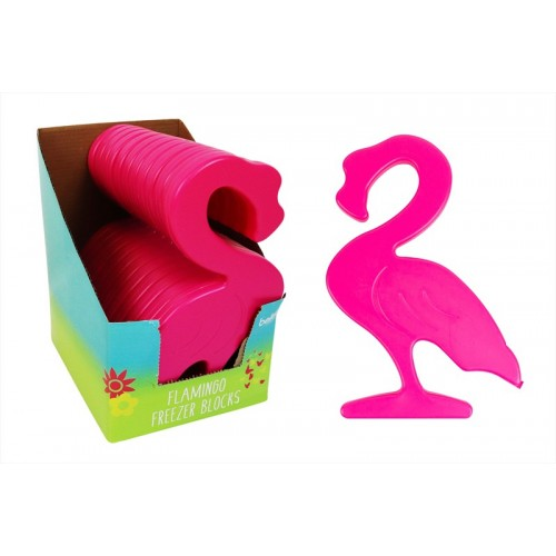 PINK FLAMINGO PARTY FREEZER BLOCK COOLER