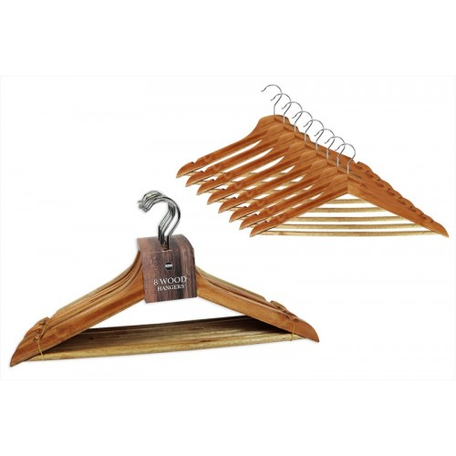 RSW WOODEN HANGERS 8 PACK