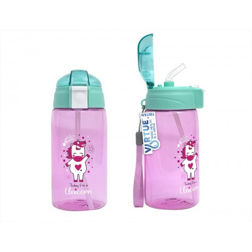 Virtue KIDS STRAW BOTTLE 520ML UNICORN DESIGN