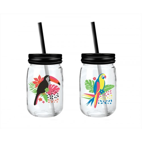 Bello MASON JAR WITH STRAW 450ML