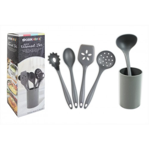 UTENSIL SET WITH HOLDER 5 PIECE