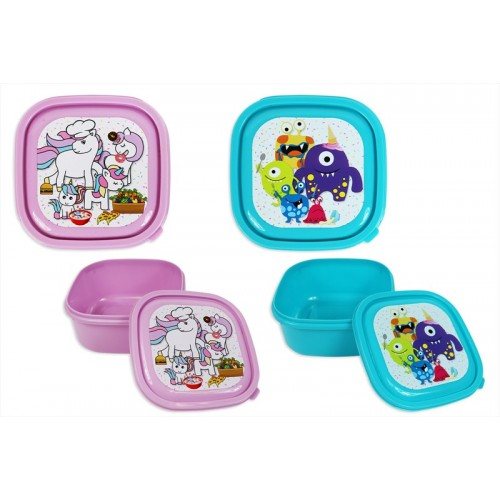 RSW LUNCH BOX 13X13X6.5CM MONSTERS/UNICORN