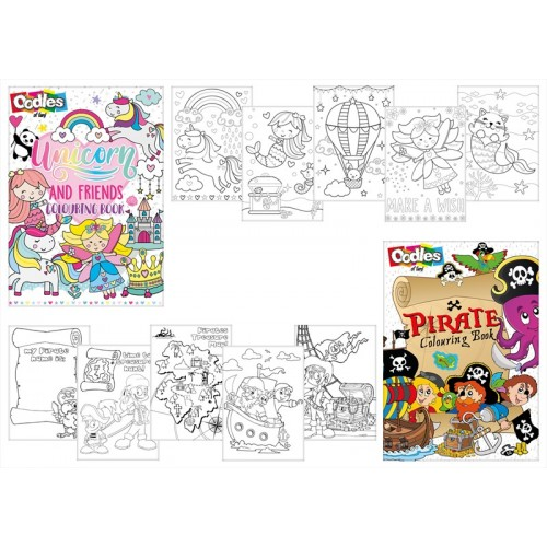 Oodles COLOURING BOOKS 2 ASSORTED DESIGNS