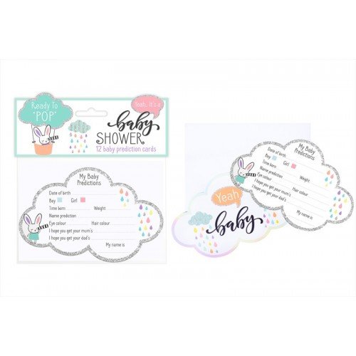 First Steps BABY SHOWER PREDICTION CARDS TWELVE PACK