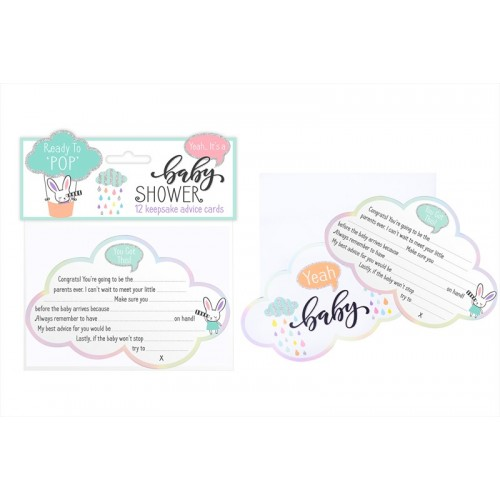 First Steps BABY SHOWER ADVICE CARDS TWELVE PACK