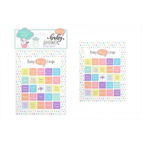 First Steps BABY SHOWER BINGO CARDS GAME 12 PACK