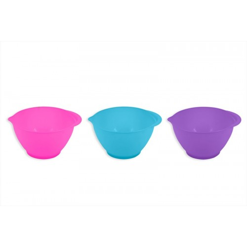 RSW 2L MIXING BOWL WITH SPOUT AND HANDLE THREE COLOURS
