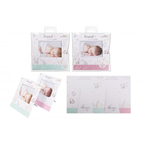 Hugs & Kisses BABY ANNOUNCEMENT CARD 2 PACK