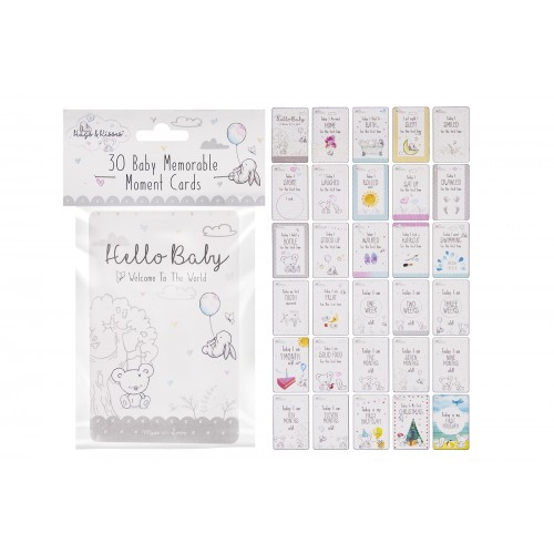 Hugs & Kisses BABY MEMORABLE MOMENT CARDS 30 PACK
