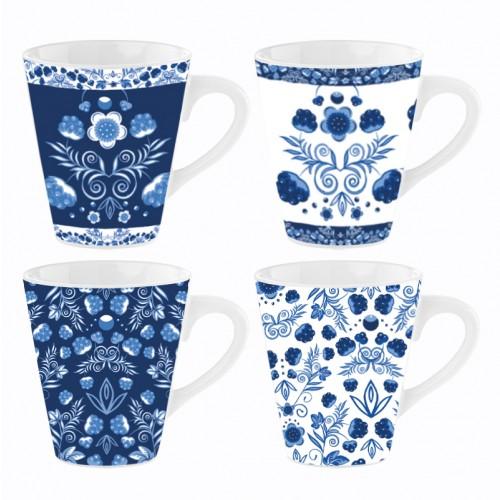 Mad About Mugs 11OZ MUGS WHITE & BLUE CHINA