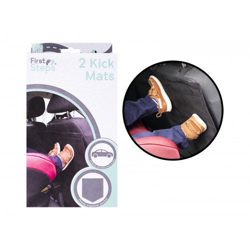 First Steps PACK OF TWO CAR KICK MATS