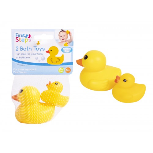 First Steps VINYL DUCK BATH TOYS 2 PACK
