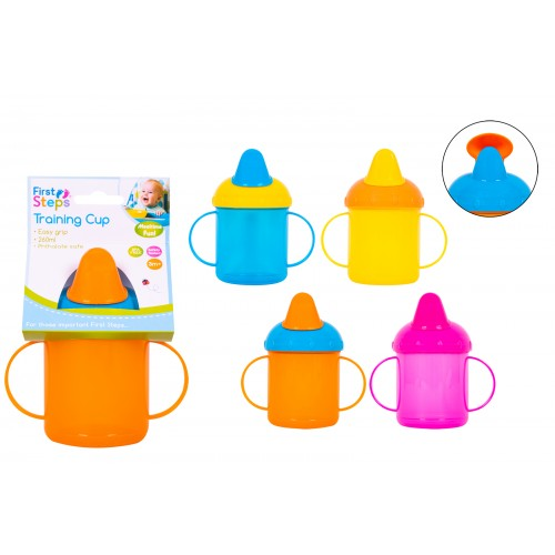 First Steps 260ML TRAINING CUP ASSORTED COLOURS