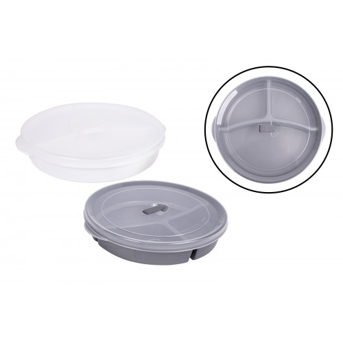 RSW 3 SECTION FOOD STORAGE WITH VENT 23CM 2 COLOURS