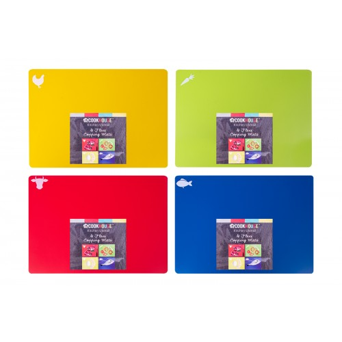 CookHouse FLEXI CHOPPING MATS SET OF 4 ASSORTED COLOURS