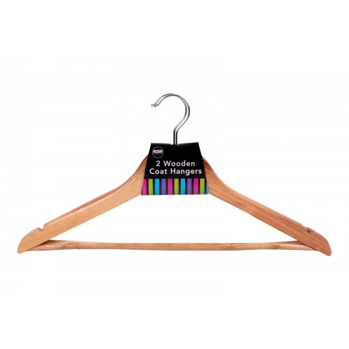 RSW WOODEN COAT HANGERS 2 PACK