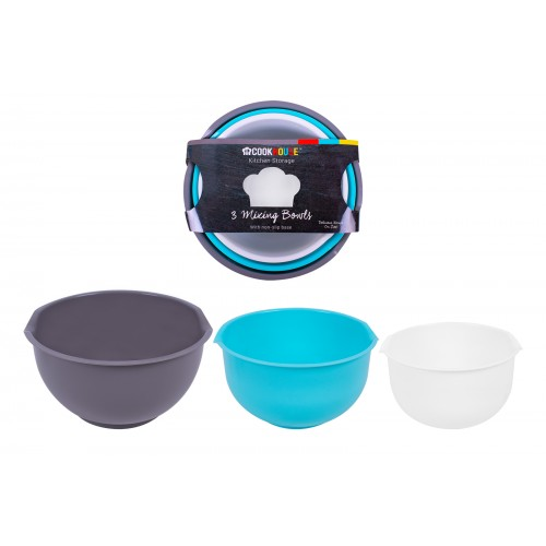 CookHouse COOKHOUSE  PIECE MIXING BOWL SET IN 3 COLOURS