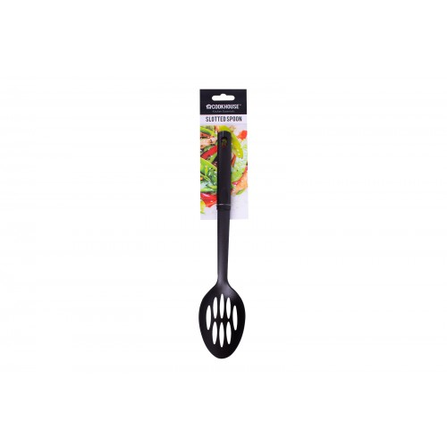 CookHouse BLACK SLOTTED SPOON 30.5CM