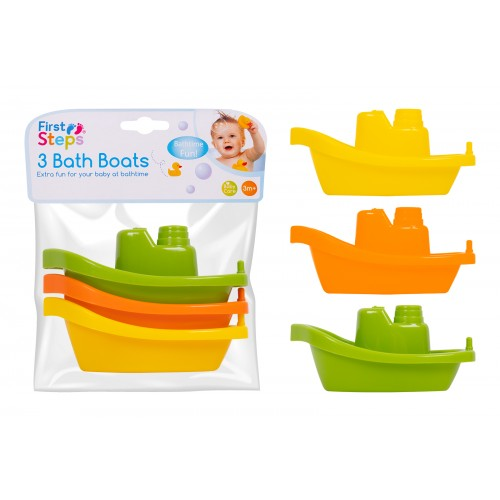 First Steps BATH BOATS PK/3