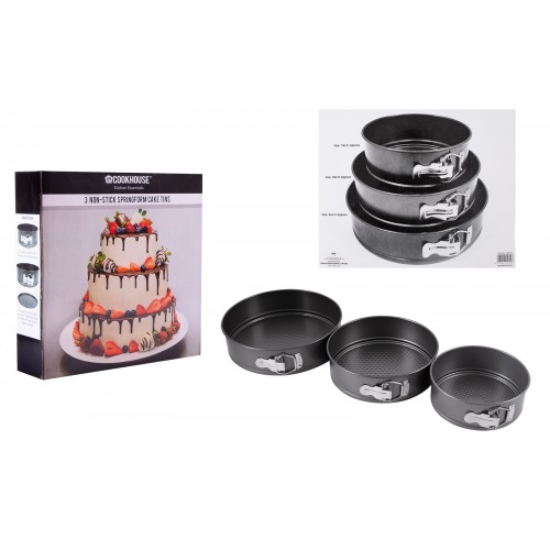RSW NON-STICK SPRINGFORM CAKE TIN SET 18/22/26CM