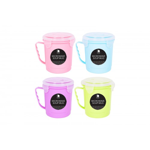 Living Colour MICROWAVE SOUP MUG WITH LID 600ML
